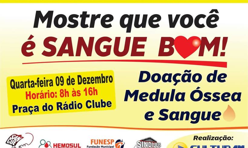 Notícias: Rádio Cultura AM estimula doação de sangue e de medula óssea em Campo Grande