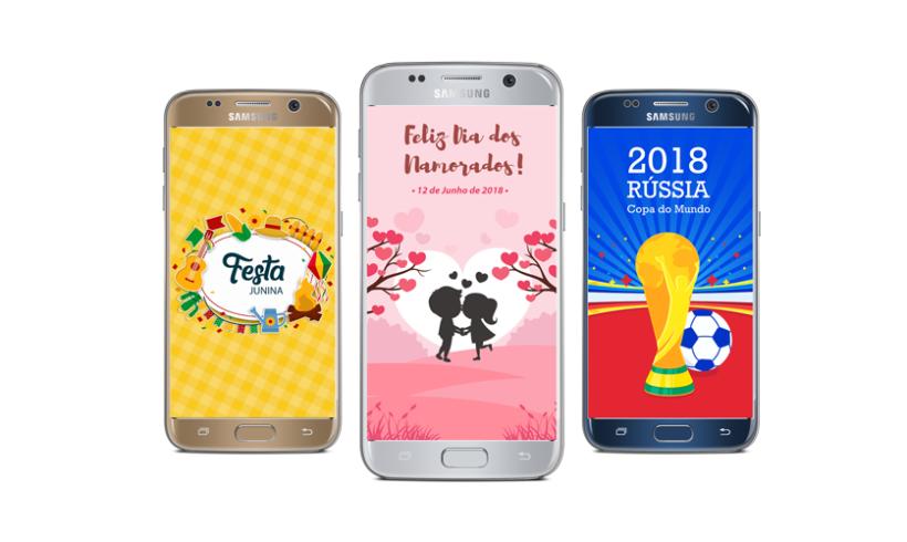 Telas Splash – Dia dos Namorados, Festa Junina e Copa do Mundo 2018!