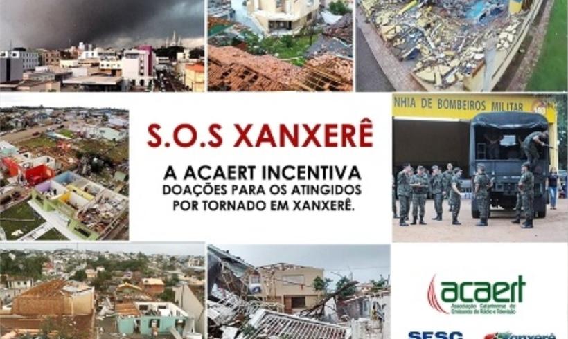 Notícias: ACAERT incentiva doações aos atingidos pelo tornado em Xanxerê
